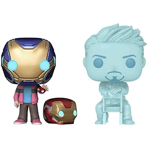 Figuras Pop Morgan Stark Y Tony Stark Brillan En La Oscuridad Figura De Colección De Juguetes Modelo De Juguete para Niños con Caja De 10 Cm