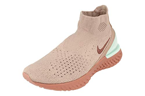 Nike Mujeres Rise React Flyknit Running Trainers AV5553 Sneakers Zapatos (UK 7.5 US 10 EU 42, diffused Taupe Mauve 226)