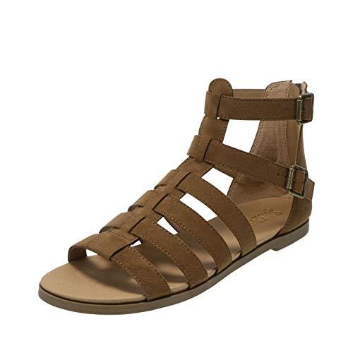 Brash Cognac Women's Zeus Gladiator Sandal 5 Regular