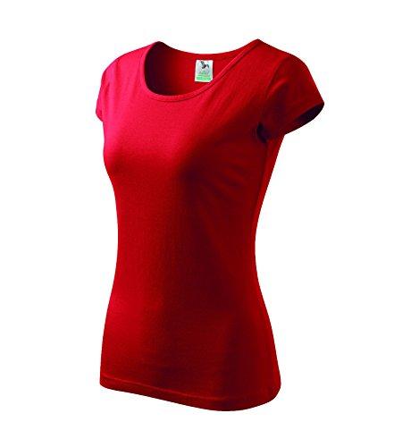 T-Shirt für Damen Ladies Shirt Pure - Größe und Farbe wählbar- (L, rot)