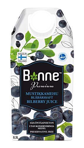 Bonne Premium Wilde Blaubeeren Saft - Heidelbeersaft im Tetrapack, 500ml - 6er Pack (6x 500ml)