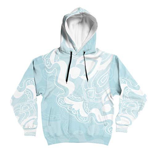 Lind88 Lichtblauw mandela Ontwerp Heren Sweatshirt Mens Vrouwen Effen - Mandela Art No-Zipper Outdoor Blouse