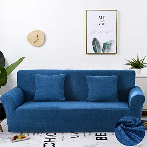 ASCV Fundas de sofá elásticas Protector de Muebles elástico Funda de sofá l Funda de sillón para Sala de Estar 1/2/3/4 plazas A5 3 plazas