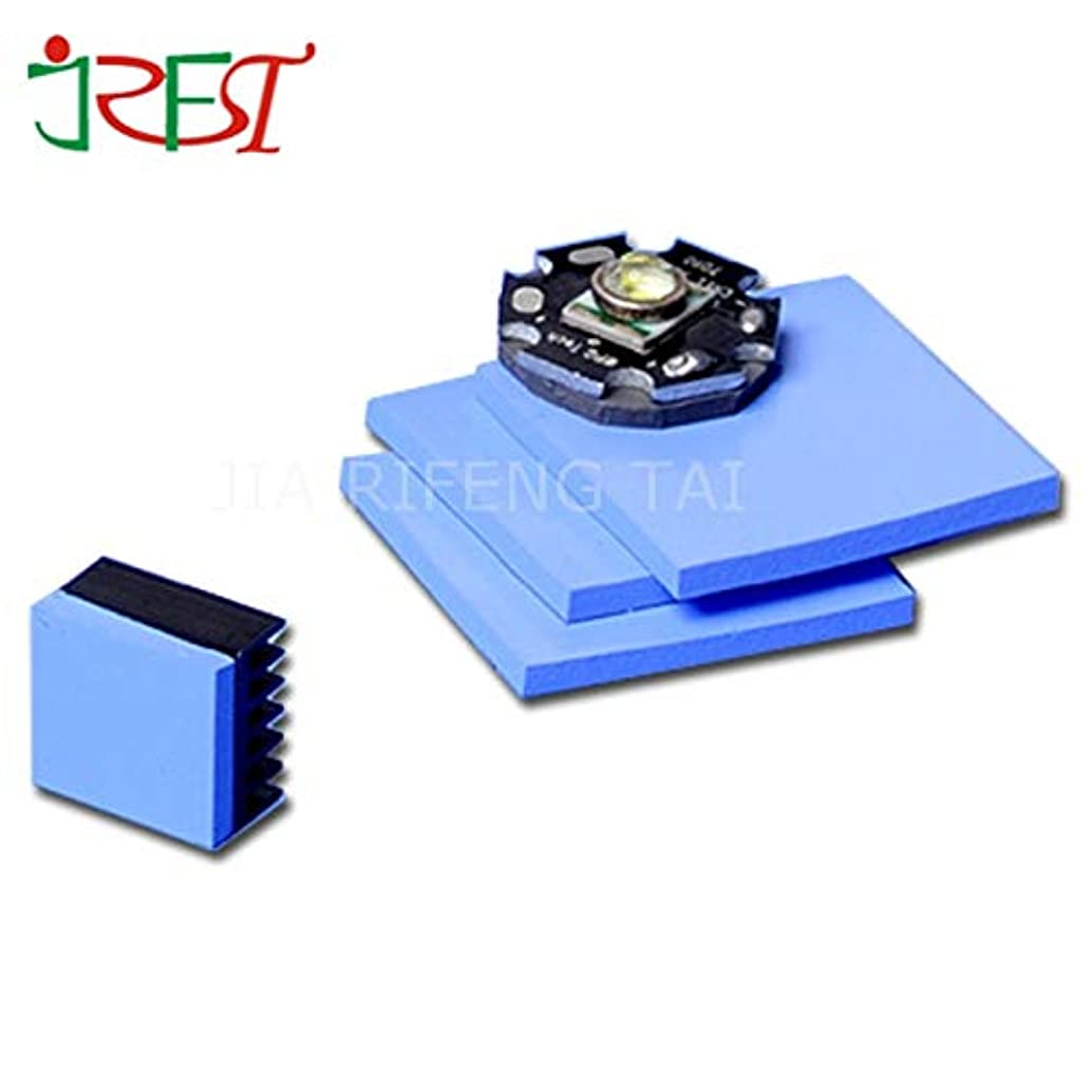 Gimax 3.0mm100mm100mm Blue Color GPU CPU Heatsink Cooling Thermal Conductive Silicone Pad
