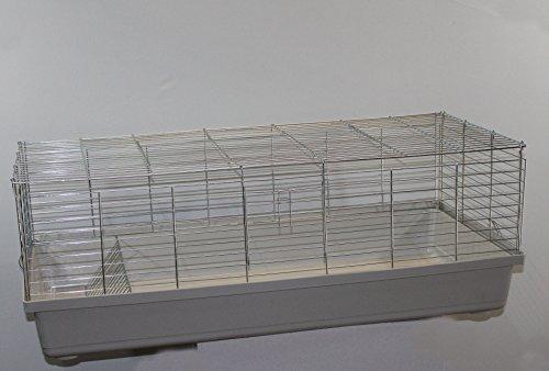 H1,20 m Hasenkäfig Nagerkäfig Kaninchenkäfig Käfig Stall Meerschweinchen weiß