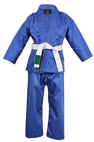 Hanni-Care Judoanzug Judo Anzug Blau mit Weißen Gürtel 110-200 - BLU (180)