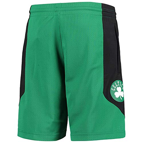 Outerstuff NBA Youth 8-20 Primary Logo Performance Practice Shorts, Jungen, Boston Celtics Green, Small
