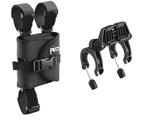 Petzl Erwachsene Ultra Fahrradhalterung Ultra Befestigung Radlenker für Farhradlenker, Schwarz, One Size, E55930