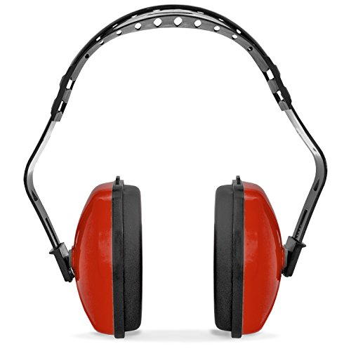 JORESTECH Safety Earmuffs Red Hearing and Ear Sound Suppression Adjustable Headband Lightweight Protection for Construction Sleeping Studying NRR 23dB EM-503