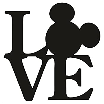 Cove Signs Mickey Mouse Love Decal/Sticker - Black 4