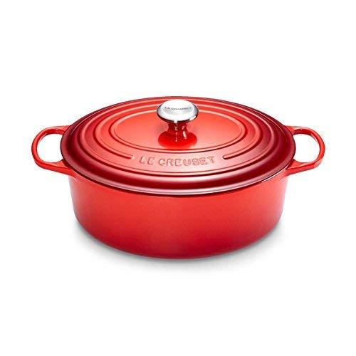 LeCreuset 21178170602430 Fuente Signature Oval 17 cm, Rojo