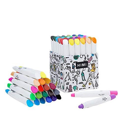 HIMI 36 Pcs Crayons Set,Non-Toxic & No Mess Coloring Gel Crayons-Washable,Retractable Color Crayons for Kids Children Coloring, Crayon-Pastel-Watercolor Effect, Ideal for Paper