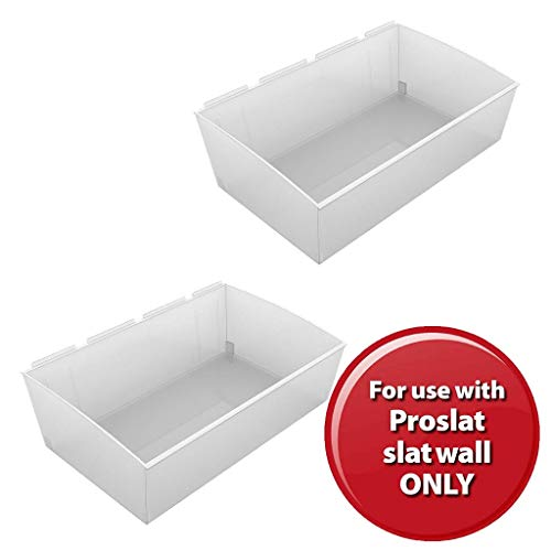 Proslat 3240 Probin Storage Bin Designed for PVC Slatwall, X-Large, 2-Pack
