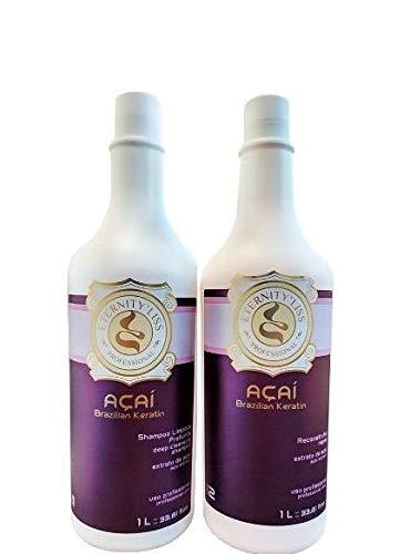 Brésilienne Lisseur Acai Kératine FULL KIT (Shampoo and Keratin) - Eternity'liss PROMOTION