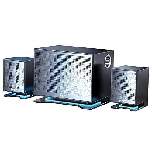 ZEIYUQI Altavoz de Computadora 3 Altavoces de Escritorio de 2.1 Canales por Cable TV Reproductor Multimedia Tarjeta TF Subwoofer de Audio Bluetooth