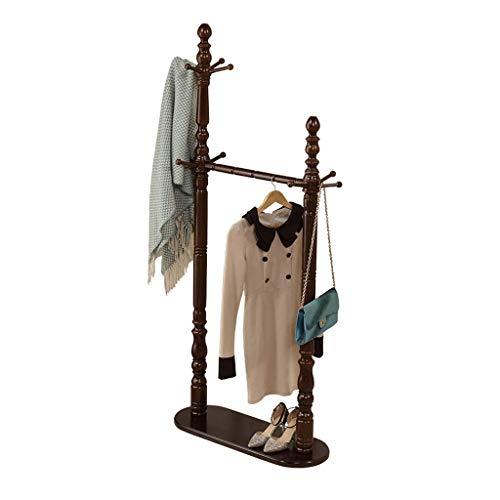 Guuisad Soporte de recubrimiento de la capa de dormitorio, soporte de la perilla de madera de alto grado de alto grado, soporte de abrigo independiente con 10 ganchos para colgar ropa y accesorios Tit