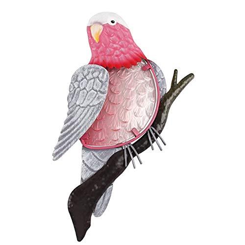 Multa De metal pájaro del loro Ilustraciones de la pared de las estatuas de la decoración del jardín al aire libre for la decoración del hogar miniaturas Accesorios Esculturas Decoración hogareña