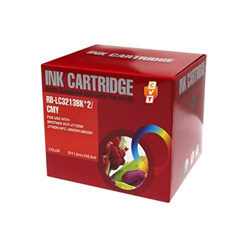CVT CompraVentaToner - Pack de 5 Cartuchos de Tinta compatibles LC3213 / LC3211 para Brother MFC-J491DW MFC-J895DW MFC-J497DW DCP-J572DW