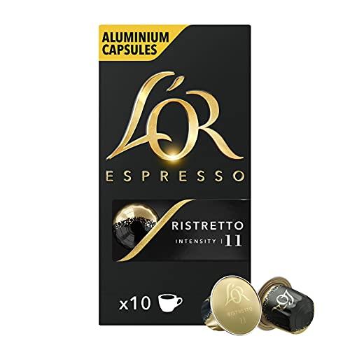 L'Or Espresso Café - 100 Capsules Ristretto Intensité 11 - compatibles Nespresso®* 10 Paquets de 10 Capsules