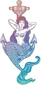 Divine Designs Sexy Vintage Pin Up Mermaid Cartoon - Pastel Ombre Vinyl Decal Sticker  4  Tall