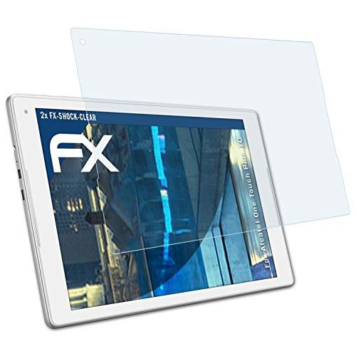 atFolix Schutzfolie kompatibel mit Alcatel One Touch Plus 10 Panzerfolie, ultraklare & stoßdämpfende FX Folie (2X)