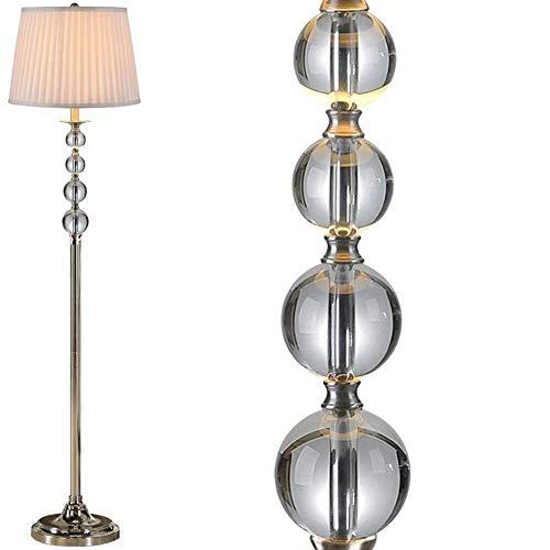 ZUQIEE Lámparas de pie Las Luces del Piso de Cristal Luces de Piso for Sala de Estar Dormitorio de la Manera Moderna Simple de la lámpara de cabecera (Color : 1002)