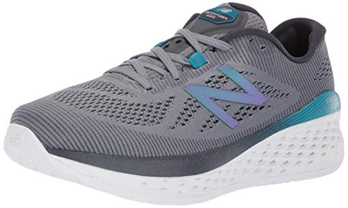New Balance Men's Fresh Foam More V1 Running Shoe, Gunmetal/Lead, 10.5 M US