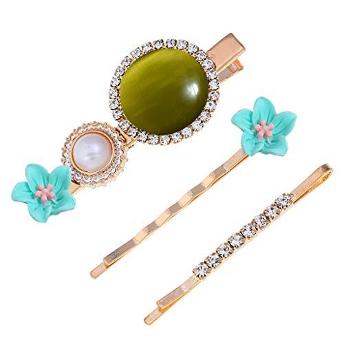 Bloodfin Pince à cheveux de mode romantique perle épingle à cheveux femmes filles Barrette,Chic Élégant Coiffure Epingle Accessoire de Mariage Fait main Fête (B)