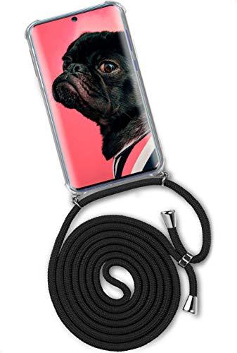 ONEFLOW Twist Hülle kompatibel mit Samsung Galaxy A51 - Handykette, Handyhülle mit Band zum Umhängen, Hülle mit Kette abnehmbar, Schwarz