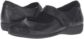 (アラヴォン)Aravon レディースフラットシューズ・スリッポン・靴 Alana-AR Black 7.5 24.5cm M (B) [並行輸入品]
