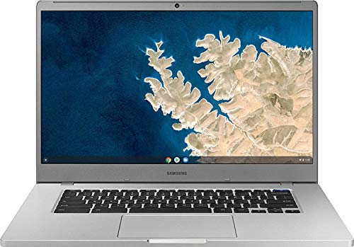 "Samsung Chromebook 4 15.6"" FHD Laptop Computer for Business Student, Intel Celeron N4000 up to 2.6GHz, 4GB LPDDR4 RAM, 32GB eMMC, Webcam, Chrome OS, iPuzzle Mousepad+ 32GB SD Card, Online Class Ready"