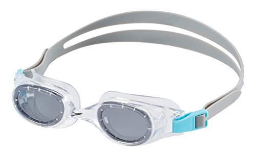 Speedo Jr. Hydrospex Classic Swim Goggles, No Leak, Anti-Fog, and Easy to Adjust with UV Protection, Smoke Ice