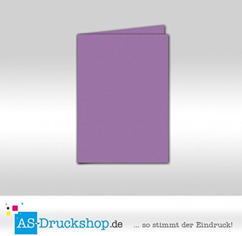 Faltkarte Doppelkarte - Lila 100 Stück DIN A6 B0794Y2T2Y   | Kompletter Spezifikationsbereich