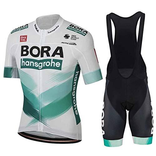 EIDKWTR Tuta Ciclismo Uomo Abbigliamento MTB alla Moda Maniche Corte Estive and Pantaloncini Corti Jerseys Uomo