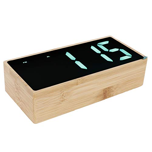 Cerlingwee Reloj LED, Reloj electrónico LED Reloj Multifuncional con función de Temperatura de Aspecto Hermoso para Oficina
