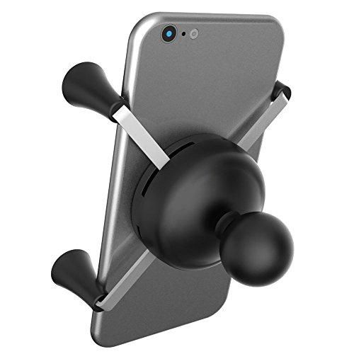 Ram Mount - Soporte Universal para teléfono móvil y iPhone (Incluye Bola de 2,54 cm), Color Negro