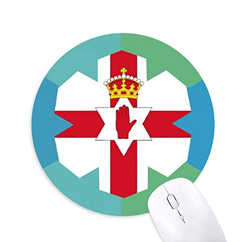 Nordirland Nationalflagge Europa Country Round Rubber Blue Snowflake Maus Pad