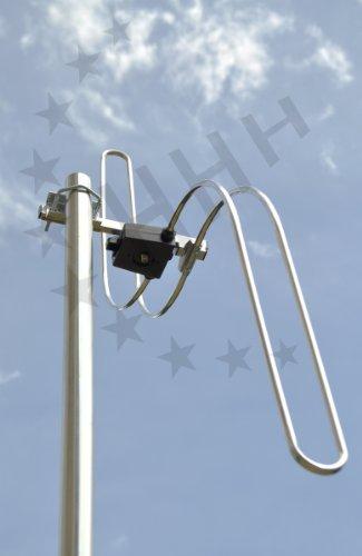 3H-FM-1S - UKW Antenne S-Bauform 1 Element mit F-Anschluss - als Ersatz für Ringdipole in Großstädten und sonstigen Ballungsgebieten