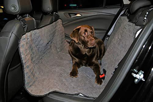 Worldgloves Auto Hundedecke mit Seitenschutz (schwarz), Autodecke Hunde Decke Sitzschutz Auto Schutzdecke Hundedecke für das Auto
