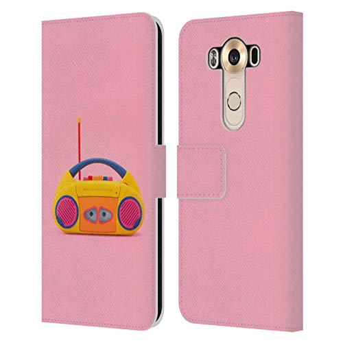 Head Case Designs Officially Licensed Pepino De Mar Cassette Toys and Gadgets Leather Book Wallet Case Cover Compatible with LG V10