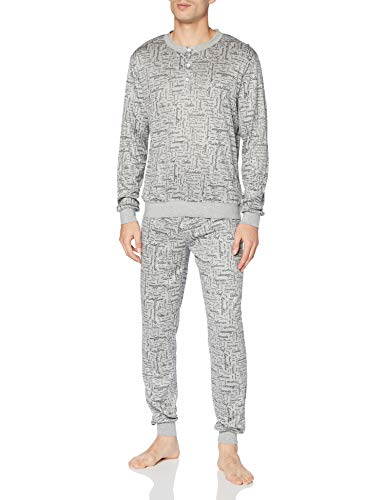 CALIDA Herren Viktor & ROLF Pyjamaset, Gravel melé, L