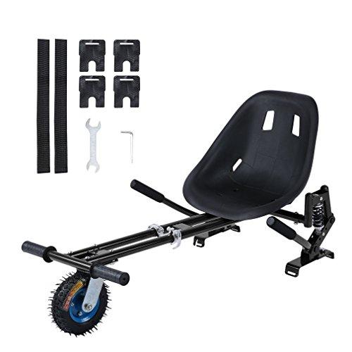 ROXTAK Stoßdämpfend Sitzscooter Hoverkart Go Cart Hoverseat - Aufhängung mit Off Road Reifen, für Alle Hoverboard und Self Balance Scooter, Einstellbare Hoverboard Sitz für Kinder oder Erwachsene…
