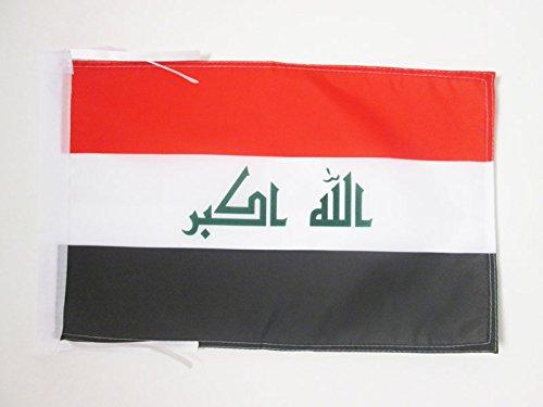 AZ FLAG Flagge IRAK 45x30cm mit Kordel - IRAKISCHE Fahne 30 x 45 cm - flaggen Top Qualität