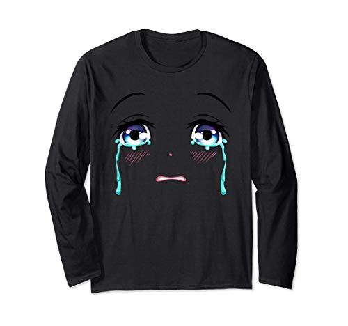 Llorando Anime Ojos Lágrimas Tristes Emo Ll Manga Larga