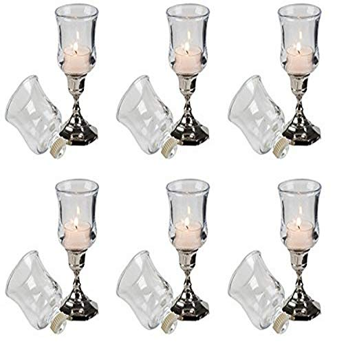 Biedermann & Sons Glass Votive Holder Cups with Peg (Box of 6)