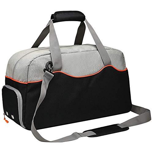 WYJW Sporttas, 40 liter, sporttas in de open lucht met schoenenvak, zijvak van mesh voor waterfles en onderste design, slijtvast, voor reizen