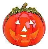 Schaurig schöne Herbstdeko Kürbis Windlicht aus Ton Halloween-Deko Herbst