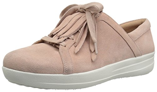 FitFlop Women's F-Sporty II LACE UP Fringe Sneakers, Dusky Pink, 11 M US