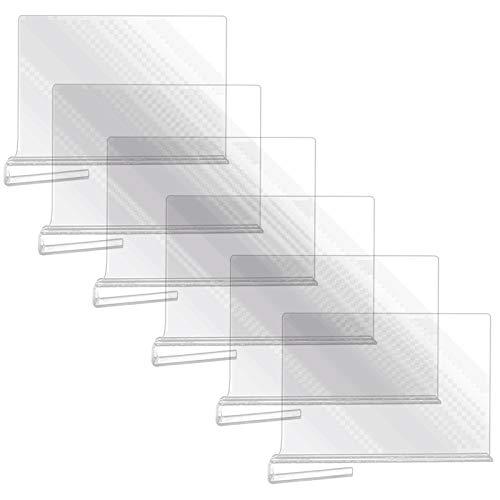 Heritan Paquete de 6 divisores de estante de acrílico transparente para armario, armarios de madera separador y organizador, para armarios de cocina
