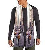 MoMo Nueva York Enue cachemira toque clásico caliente suave ligero y sedoso de lujo de invierno abrigo de la bufanda de las mujeres para los hombres
